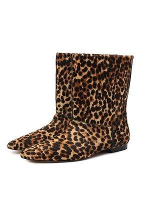 Женские кожаные сапоги KENZO коричневого цвета, арт. FA62BT020L70   Фото 1