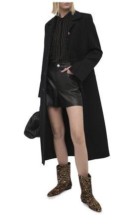 Женские кожаные сапоги KENZO коричневого цвета, арт. FA62BT020L70   Фото 2
