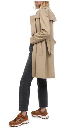 Женские кроссовки story BURBERRY светло-коричневого цвета, арт. 8031518 | Фото 2