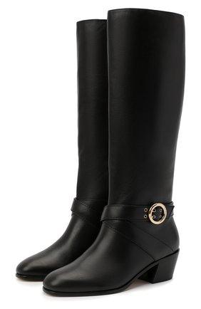 Женские кожаные сапоги beca 45 JIMMY CHOO черного цвета, арт. BECA 45/SQM | Фото 1