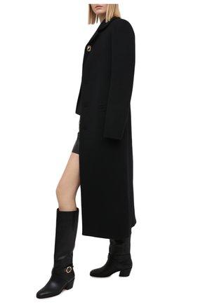 Женские кожаные сапоги beca 45 JIMMY CHOO черного цвета, арт. BECA 45/SQM | Фото 2