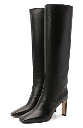 Женские кожаные сапоги mahesa 85 JIMMY CHOO черного цвета, арт. MAHESA 85/WLZ | Фото 1