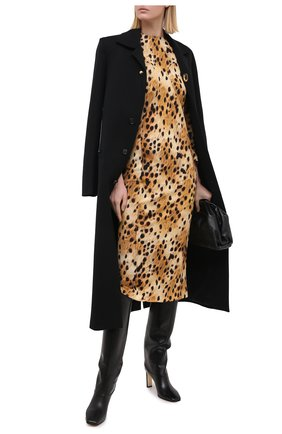 Женские кожаные сапоги mahesa 85 JIMMY CHOO черного цвета, арт. MAHESA 85/WLZ | Фото 2
