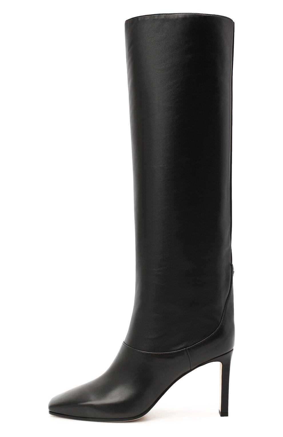 Женские кожаные сапоги mahesa 85 JIMMY CHOO черного цвета, арт. MAHESA 85/WLZ | Фото 3