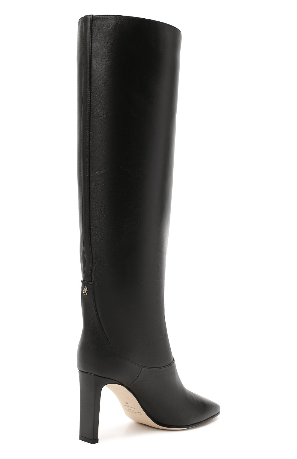 Женские кожаные сапоги mahesa 85 JIMMY CHOO черного цвета, арт. MAHESA 85/WLZ | Фото 4