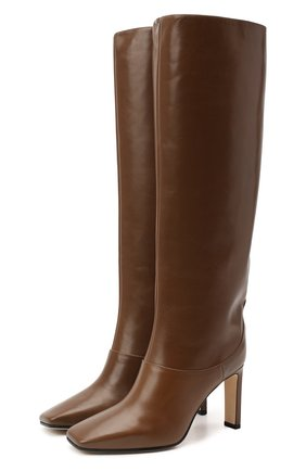 Женские кожаные сапоги mahesa 85 JIMMY CHOO коричневого цвета, арт. MAHESA 85/WLZ | Фото 1