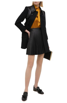 Женская кожаная юбка REDVALENTINO черного цвета, арт. UR0NI00V/5HP | Фото 2