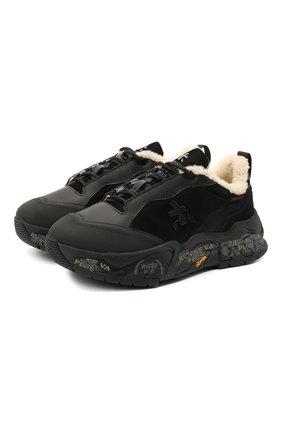 Женские комбинированные кроссовки  PREMIATA черного цвета, арт. R0YTRECK/VAR203   Фото 1