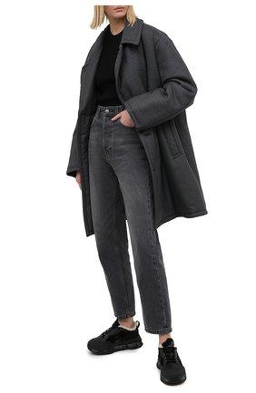 Женские комбинированные кроссовки  PREMIATA черного цвета, арт. R0YTRECK/VAR203   Фото 2