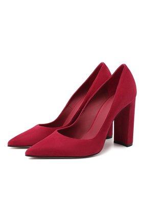 Женская замшевые туфли LE SILLA бордового цвета, арт. 2905R090R3PPVEL   Фото 1