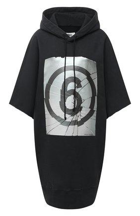 Женское хлопковое платье MM6 черного цвета, арт. S32CU0173/S25409 | Фото 1