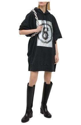 Женское хлопковое платье MM6 черного цвета, арт. S32CU0173/S25409 | Фото 2