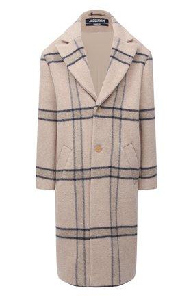 Женское шерстяное пальто JACQUEMUS бежевого цвета, арт. 203C001/119172 | Фото 1