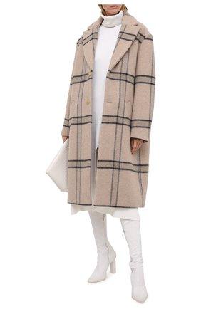 Женское шерстяное пальто JACQUEMUS бежевого цвета, арт. 203C001/119172 | Фото 2