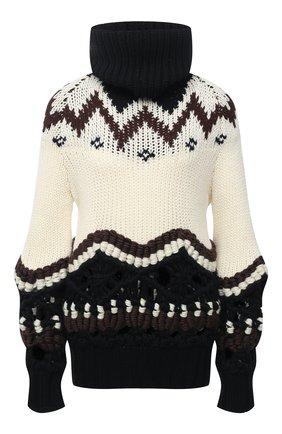 Женский шерстяной свитер SACAI бежевого цвета, арт. 20-05231 | Фото 1