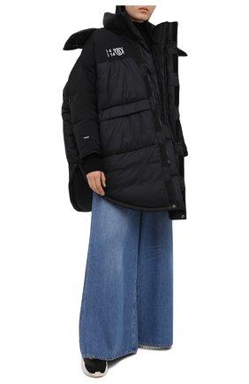 Женский пуховая куртка mm6 x the north face MM6 черного цвета, арт. S62AA0034/S53390 | Фото 2