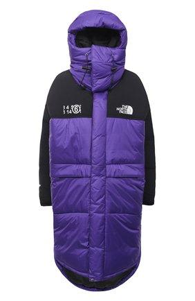 Женский пуховая куртка mm6 x the north face MM6 фиолетового цвета, арт. S62AA0034/S53390 | Фото 1