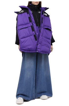 Женский пуховая куртка mm6 x the north face MM6 фиолетового цвета, арт. S62AA0034/S53390 | Фото 2