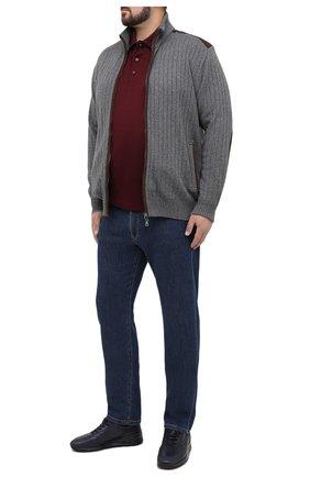 Мужское хлопковое поло PAUL&SHARK бордового цвета, арт. A20P1751/C00/3XL-6XL | Фото 2