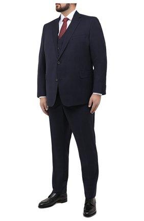 Мужской шерстяной костюм-тройка EDUARD DRESSLER темно-синего цвета, арт. N283/16006 | Фото 1