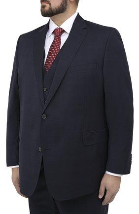Мужской шерстяной костюм-тройка EDUARD DRESSLER темно-синего цвета, арт. N283/16006 | Фото 2