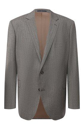 Мужской шерстяной пиджак EDUARD DRESSLER светло-коричневого цвета, арт. 6431/26006 | Фото 1