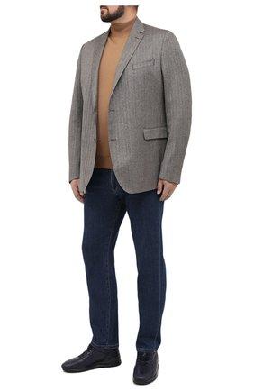 Мужской шерстяной пиджак EDUARD DRESSLER светло-коричневого цвета, арт. 6431/26006 | Фото 2