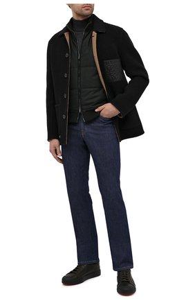 Мужские кожаные кеды SANTONI хаки цвета, арт. MBC021383NEARDDDV60 | Фото 2