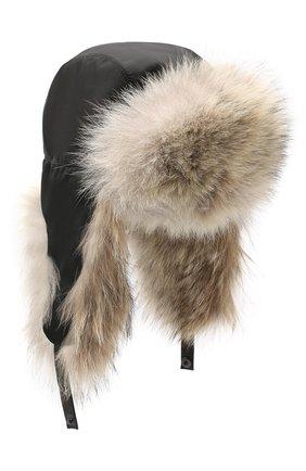 Мужская шапка-ушанка из меха койота KUSSENKOVV светло-бежевого цвета, арт. 330908365159 | Фото 1