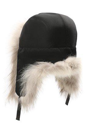 Мужская шапка-ушанка из меха койота KUSSENKOVV светло-бежевого цвета, арт. 330908365159 | Фото 2