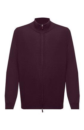 Мужская шерстяной кардиган SVEVO фиолетового цвета, арт. 0918/9XSA20/MP09 | Фото 1