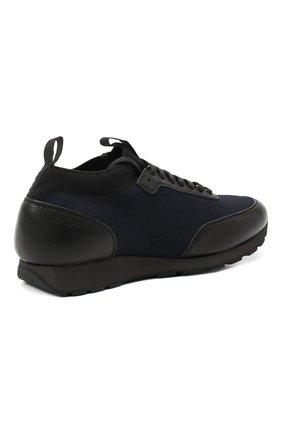 Мужские комбинированные кроссовки BRIONI темно-синего цвета, арт. QHL10L/09714   Фото 4