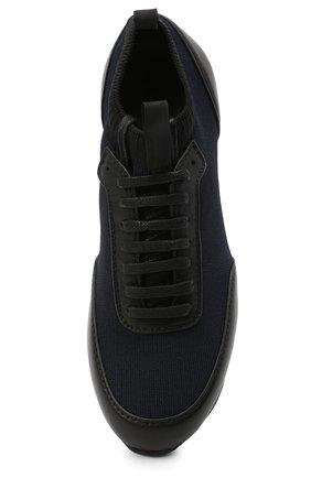 Мужские комбинированные кроссовки BRIONI темно-синего цвета, арт. QHL10L/09714   Фото 5