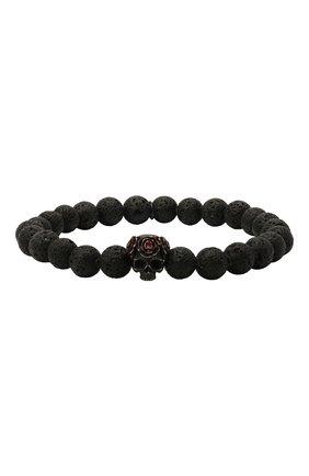 Мужской браслет TATEOSSIAN черного цвета, арт. PBL0168 | Фото 1 (Материал: Металл)