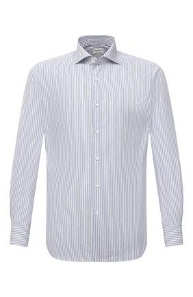 Мужская хлопковая сорочка BAGUTTA голубого цвета, арт. 386_EBL/09879 | Фото 1