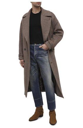 Мужские замшевые сапоги wyatt SAINT LAURENT коричневого цвета, арт. 603515/1Y201 | Фото 2