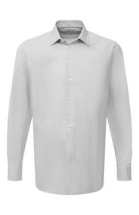 Мужская хлопковая рубашка LORO PIANA светло-серого цвета, арт. FAL4417 | Фото 1