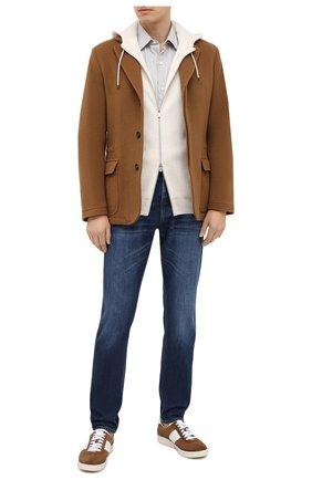 Мужская хлопковая рубашка LORO PIANA светло-серого цвета, арт. FAL4417 | Фото 2
