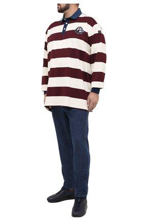 Мужское хлопковое поло PAUL&SHARK бордового цвета, арт. A20P1779/C00/3XL-6XL | Фото 2