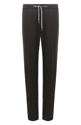Мужской шерстяные брюки MARCO PESCAROLO коричневого цвета, арт. CARACCI0L0/4266 | Фото 1