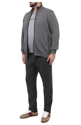 Мужской брюки из кашемира и шерсти MARCO PESCAROLO серого цвета, арт. CARACCI0L0/4274 | Фото 2