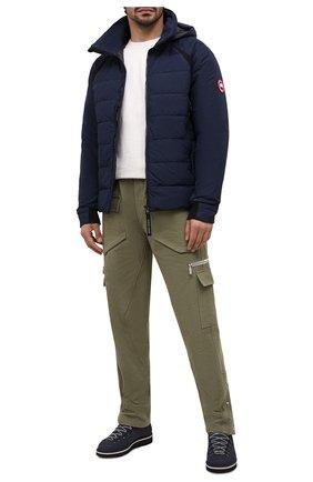 Мужские кожаные ботинки m120 FRACAP темно-синего цвета, арт. M120/NABUK/CALFSKIN/BRUNITI/CUT | Фото 2