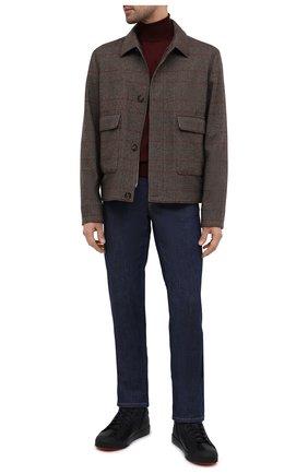 Мужские кожаные кеды SANTONI темно-синего цвета, арт. MBC021424NEAPNKLU60 | Фото 2