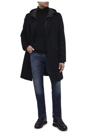 Мужские кожаные кроссовки SANTONI темно-синего цвета, арт. MBEN21203NGGPG0DU55 | Фото 2