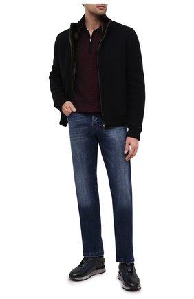 Мужские кожаные кроссовки SANTONI темно-синего цвета, арт. MSAM21413GGNRBDNU60 | Фото 2