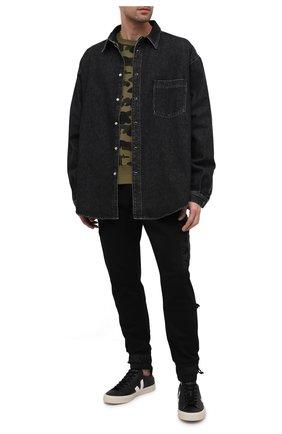 Мужские кожаные кеды VEJA черного цвета, арт. CP051215B   Фото 2