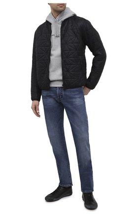 Мужские кожаные кеды VEJA черного цвета, арт. EA022334B   Фото 2