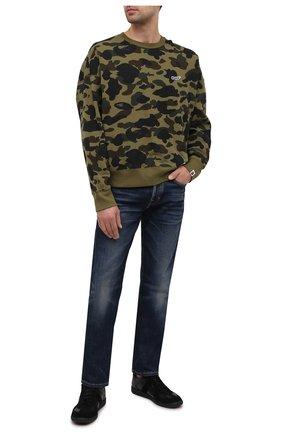 Мужской хлопковый свитшот BAPE хаки цвета, арт. 1G80113023   Фото 2