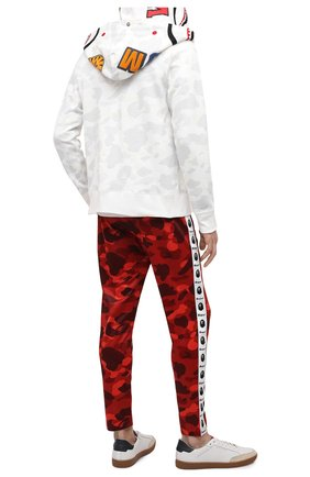 Мужская хлопковая толстовка BAPE белого цвета, арт. 1G80115023 | Фото 2