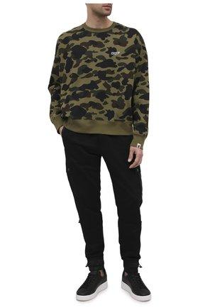 Мужские кожаные кеды purestar GOLDEN GOOSE DELUXE BRAND черного цвета, арт. GMF00124.F000301   Фото 2
